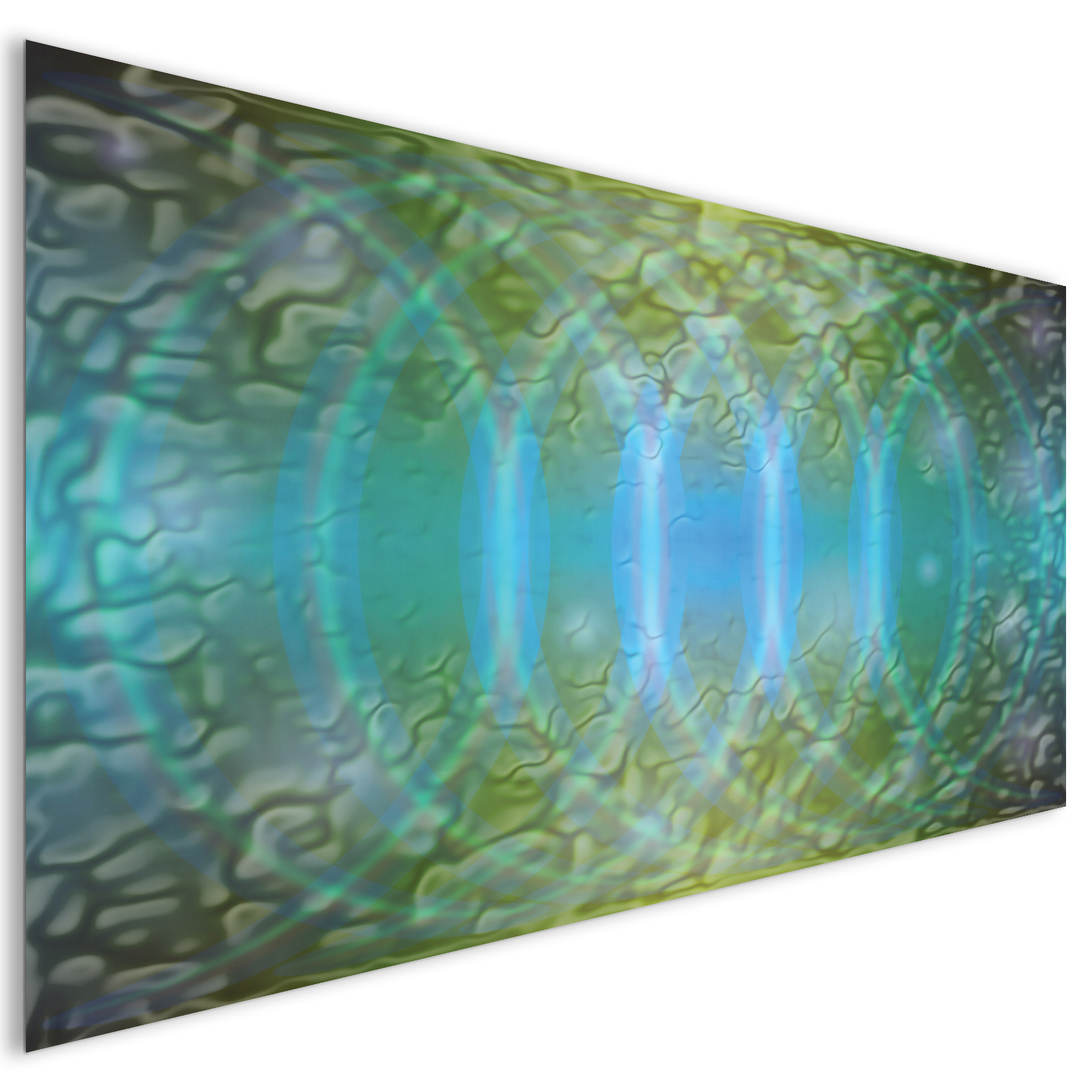 extra large green rings modern abstract acrylic glass wall