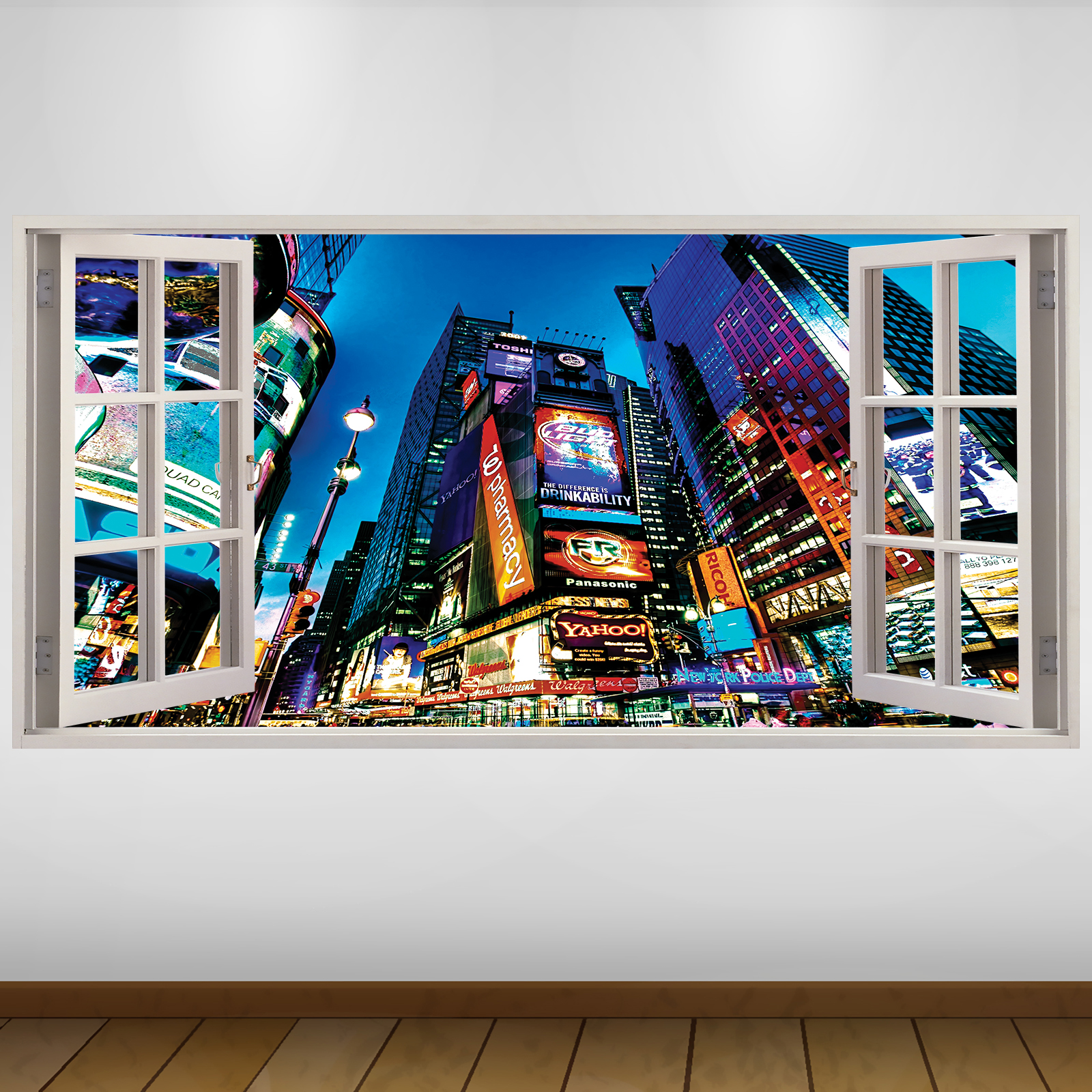 EXTRA LARGE Times Square Billboards City New York 3D Vinyl ...