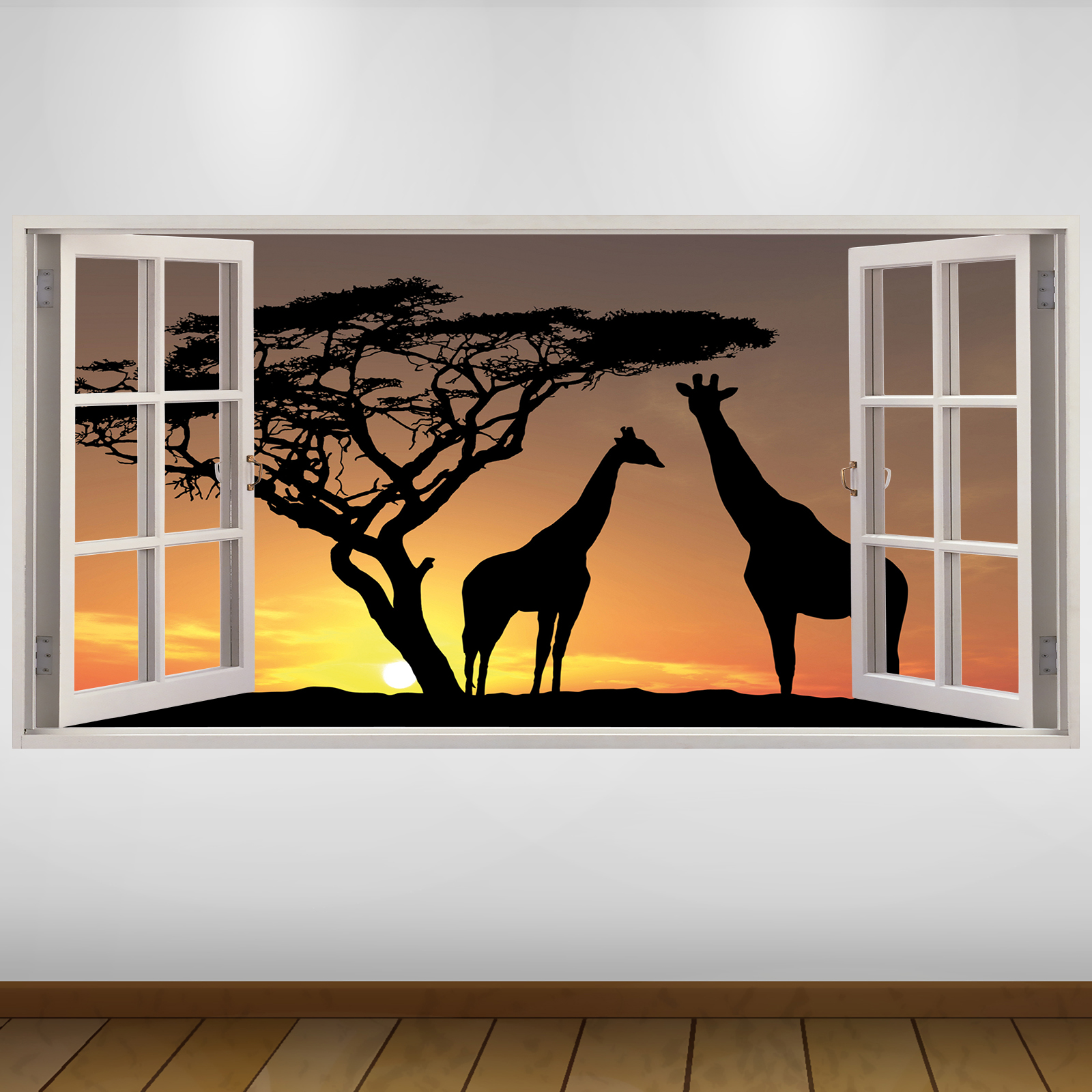 extra large africa wildlife nature 3d vinyl wall art decal sticker