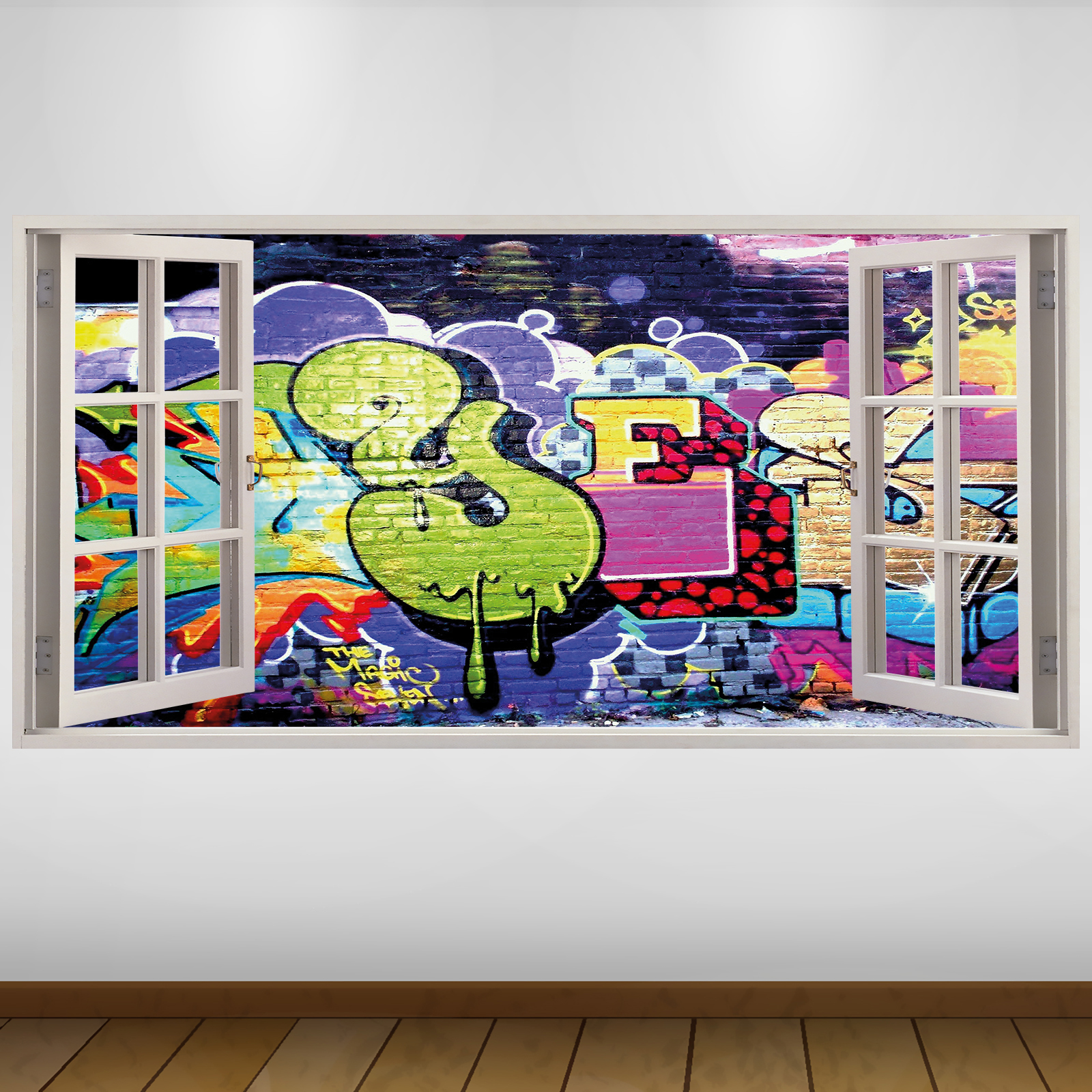 Graffiti wall decals high definition pics