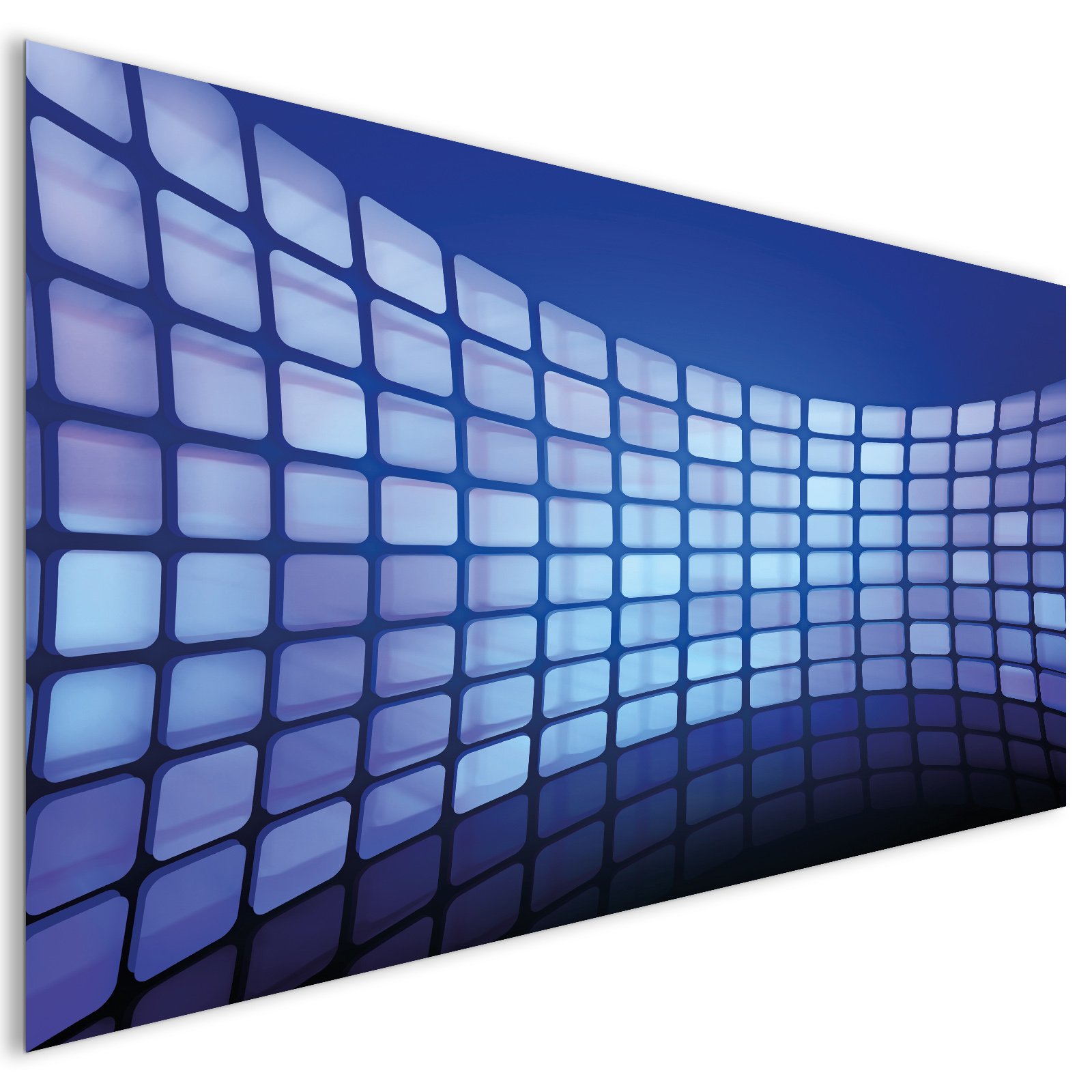 Extra large abstract 3d blue shiny blocks acrylic glass for Large acrylic block